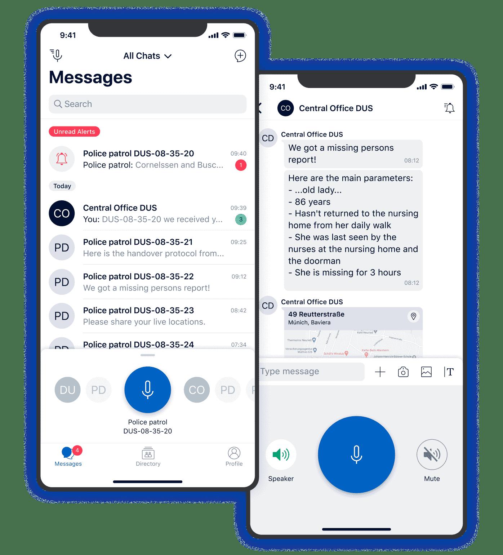 Push-to-Talk User Interface